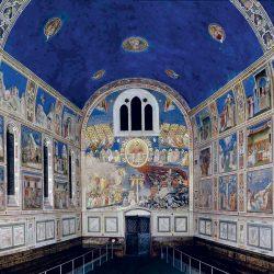 Giotto (1266/7-1337) - Fresques de la chapelle Santa Maria della Carità all'Arena (Saint Marie de la Charité de l'Arène), à Padoue, peintes entre 1303 et 1306 (vue d'ensemble).