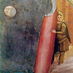 """Giotto (1266/7-1337) - Fresque de la chapelle """"Scrovegni"""" (détail)."""