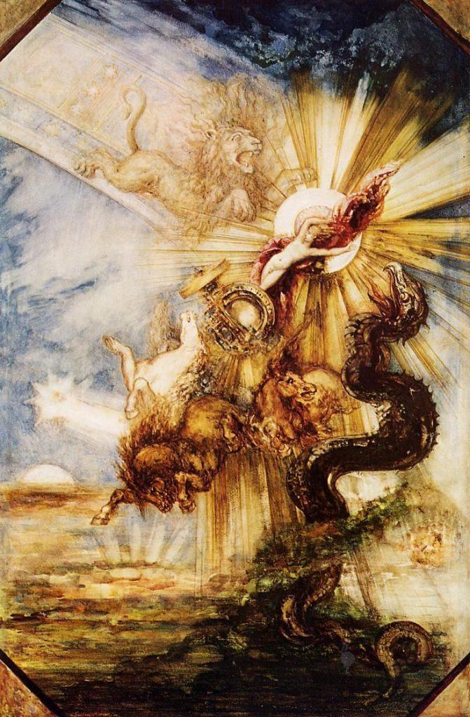 Gustave Moreau (1826-1898) - Chute de Phaéton. Projet de plafond (Paris, musée d'Orsay, conservé au musée du Louvre)