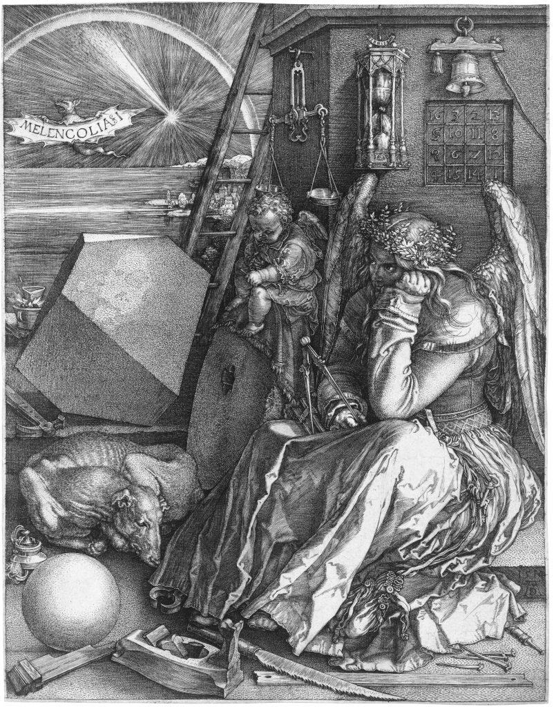Albrecht Dürer (1471-1528) - Melencolia (gravure, 1514)