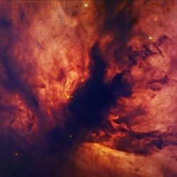 La nébuleuse de la Flamme, dans la constellation d'Orion.