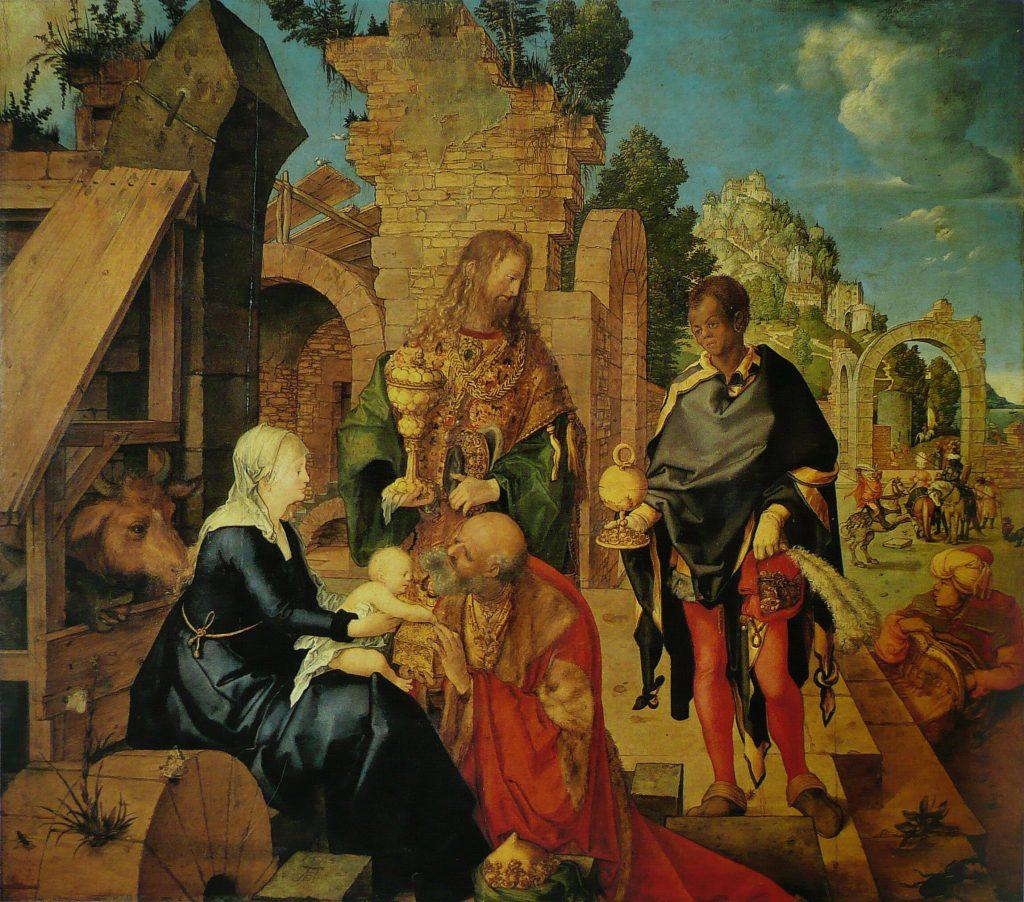 Albrecht Dürer (1471-1528) - L'Adoration des mages (504), Musée des Offices, Florence.