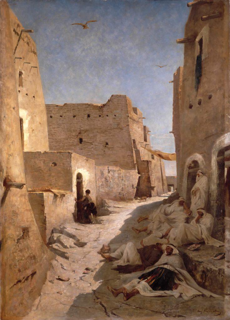 Eugène FROMENTIN (1820 - 1876) - Une rue à El-Aghouat. (© Photo RMN-Grand Palais - Droits réservés)