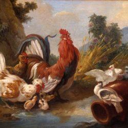 Jean-Baptiste Huet (1745-1811) - Coq, poules, poussins et colombes, 1780, Musée des Beaux-Arts de Quimper