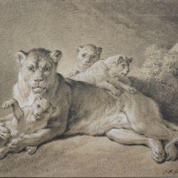 Jean-Baptiste Huet (1745-1811) -  Lionne et ses petits, 1801-1802 (© Albertina Museum)