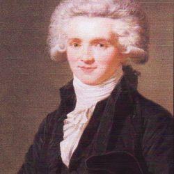Portrait de Robespierre en perruque poudrée