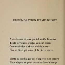 Stéphane Mallarmé - (Poésies, 1914)