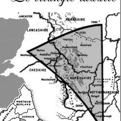Le triangle luddite en Angleterre, où l'organisation fut la plus concentrée, organisée et causa le plus de dommages.