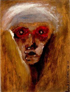 Arnold Schönberg - Der rote Blick (1910) (probablement un autoportrait du compositeur)