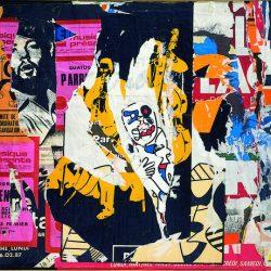 Jacques Mahé de la Villeglé (né en 1926) - Ex-26, rue du Pont-Neuf, 11 mars 1975 affiches lacérées marouflées sur toile (Courtesy Galerie GP & N Vallois, Paris)