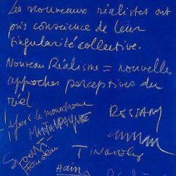 Manifeste du Nouveau Réalisme du 27 octobre 1960