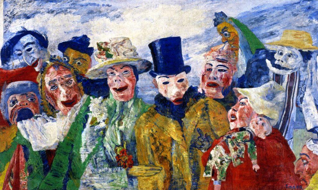 James Ensor (1860-1949) - L'Intrigue (1890), Musée des Beaux Arts d'Anvers, Belgique