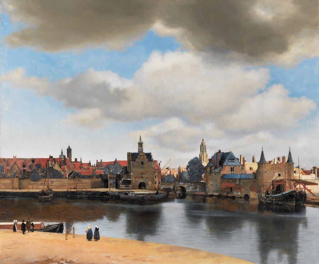 Johannes Vermeer (1632-1675) - Gezicht op Delft (Vue de Delft, 1659-1660), Musée Mauritshuis, La Haye