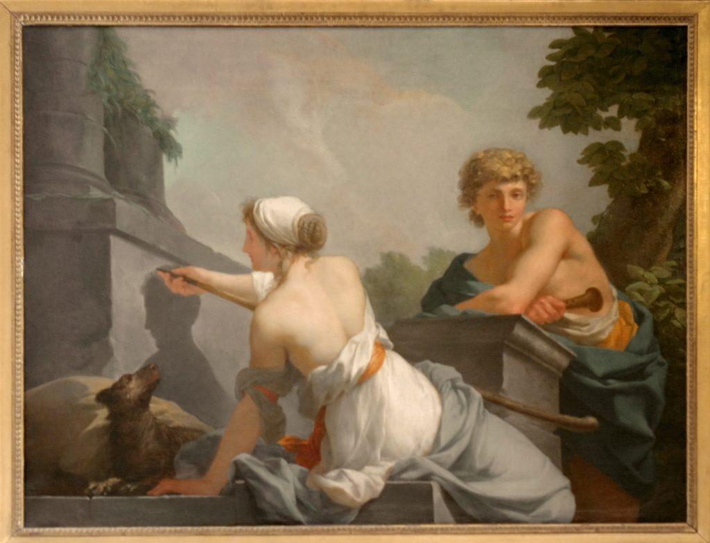 Jean-Baptiste Regnault  (1754–1829) - L'Origine de la peinture.