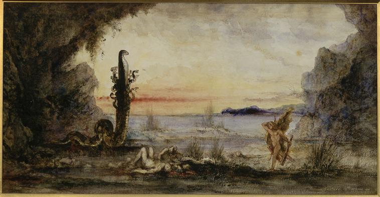 Gustave Moreau (1826-1898) - Hercule au jardin des Hespérides