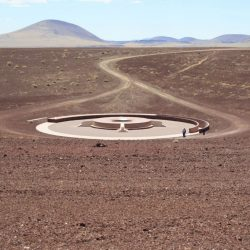 James Turrell - l'oeil du cratère (extérieur), Roden Crater, Flagstaff, Arizona.
