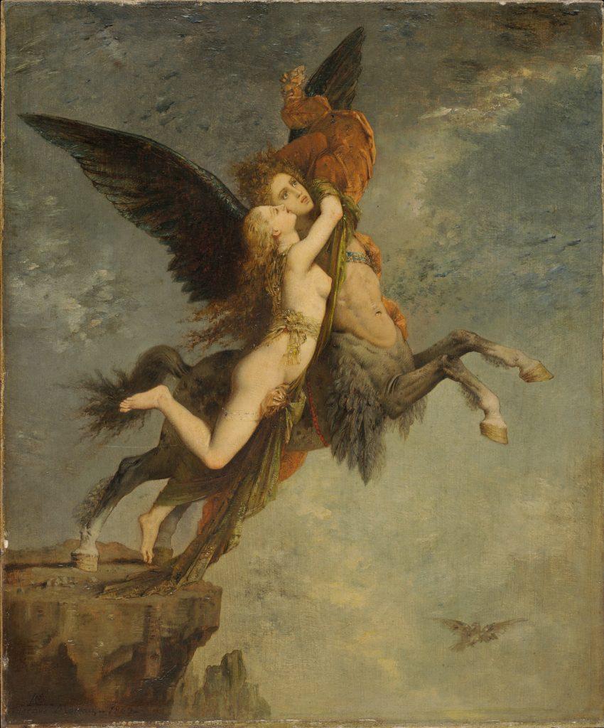 Gustave Moreau (1826-1898) - La chimère (1867), Fogg Art Museum de Cambridge, États-Unis