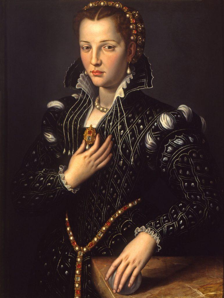 Bronzino (Agnolo di Cosimo di Mariano, 1503-1572) - Lucrezia de Medici (portrait présumé, 1560)