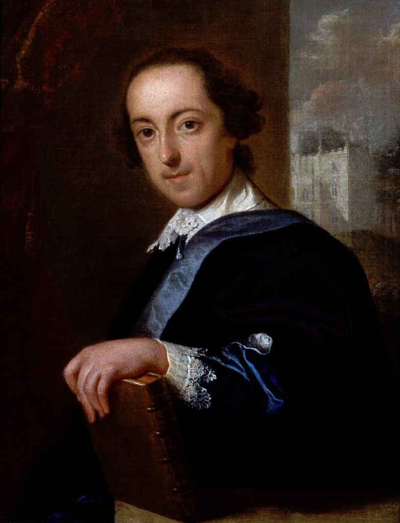 John Giles Eccardt (1720–1779) - portrait of Horace Walpole (1717-1797) vers 1754, National Portrait Gallery, Londres.