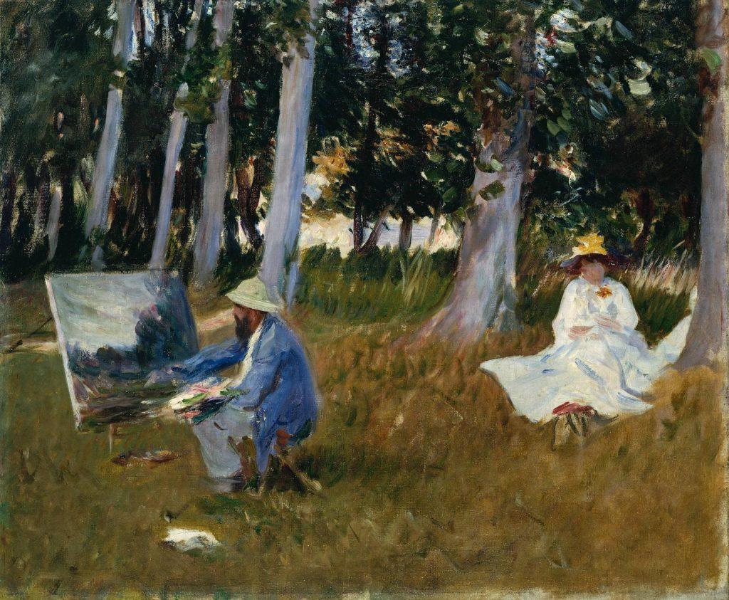 John Singer Sargent (1856-1925) - Claude Monet peignant à l'orée d'un bois, en 1885 (peinture produite par Miss Emily Sargent et Mrs Ormond grâce au National Art Collections Fund en 1925), Tate Modern, Londres