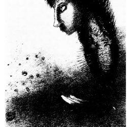 Odilon Redon (1840-1916) - Un coup de dés ... (illustration du poème de Mallarmé réalisée entre 1897 et 1898) ; album Ambroise Vollard (projet d'édition qui ne vit pas le jour).