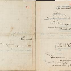 Epreuve manuscrite de la main de Stéphane Mallarmé (1842-1898): c'est une maquette autographe d'un poème typographique.