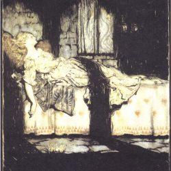 Arthur Rackham (1867-1939) - illustration du conte La Belle au Bois Dormant