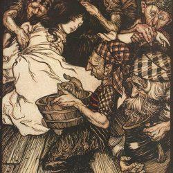 Arthur Rackham (1867-1939) - illustration du conte Blanche Neige et les sept nains