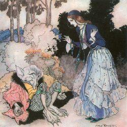 Arthur Rackham (1867-1939) - illustration du conte La Belle et la Bête
