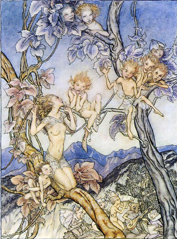 Arthur Rackham (1867-1939) - illustration du conte La Chanson des fées