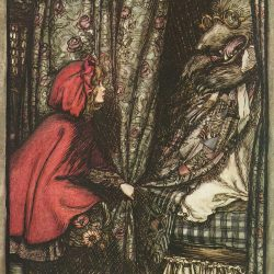 Arthur Rackham (1867-1939) - illustration illustration du conte Le petit chaperon rouge