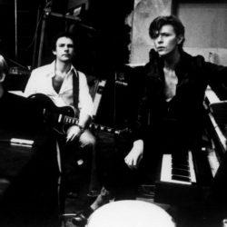 Brian Eno, Robert Fripp, David Bowie, au studio Hansa à Berlin (1977)