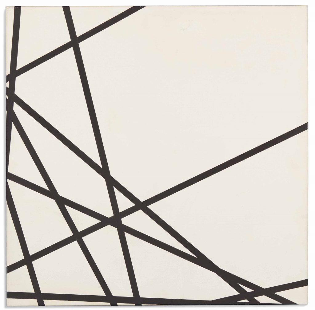 François Morellet (1926-2016) - 10 lignes au hasard (1975) (© ADAGP François Morellet Courtesy the artist and kamel mennour, Paris)